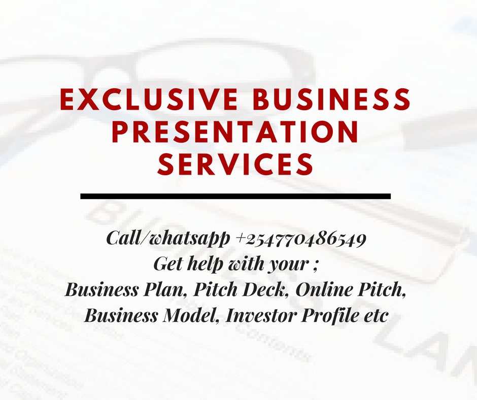 Call/WhatsApp +254770486549 for Executive Business Presentation Services